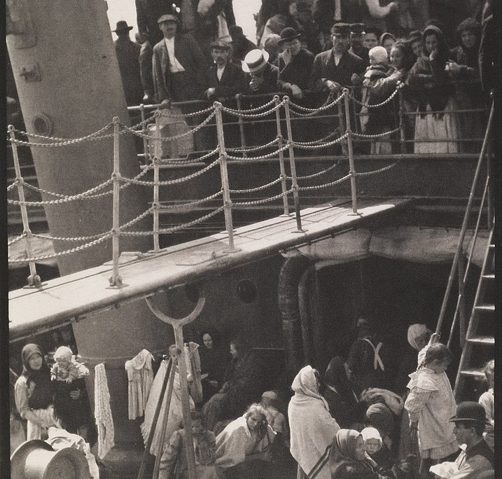 The Steerage - photo of ship passengers by Alfred Stieglitz